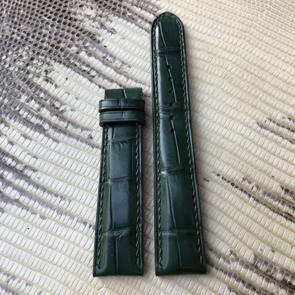 Dây da đồng hồ xanh lá