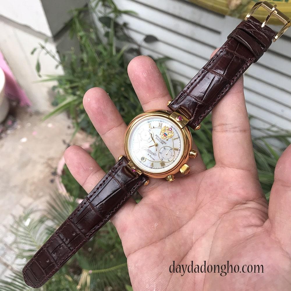 dây đồng hồ nga da cá sấu